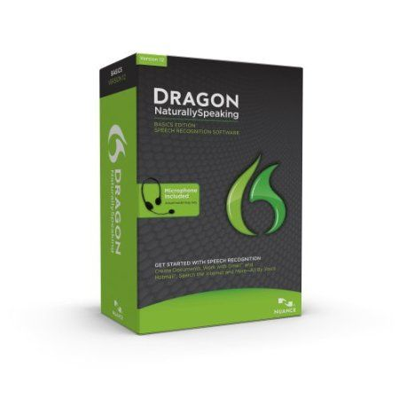 Get Started with Speech Recognition Software-Dragon NaturallySpeaking 12 Basics ignites new levels of fun and freedom by introducing you to speech recognition software for the PC. Dragon recognizes what you say and how you say it so you can interact with your computer by talking! Say words and watch them appear on your computer screen - three times faster than typing - with no spelling mistakes  Price: $48.61
