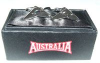 Australia Brand Cufflinks  Boomerang shape with Kangaroo made in China (boxed)  SPECIAL - $12.00 or any 3 for $33.00 Code:  CUFF-AUS01