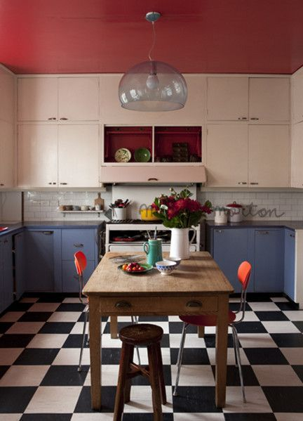bicolore, blanc et bleu, cuisine