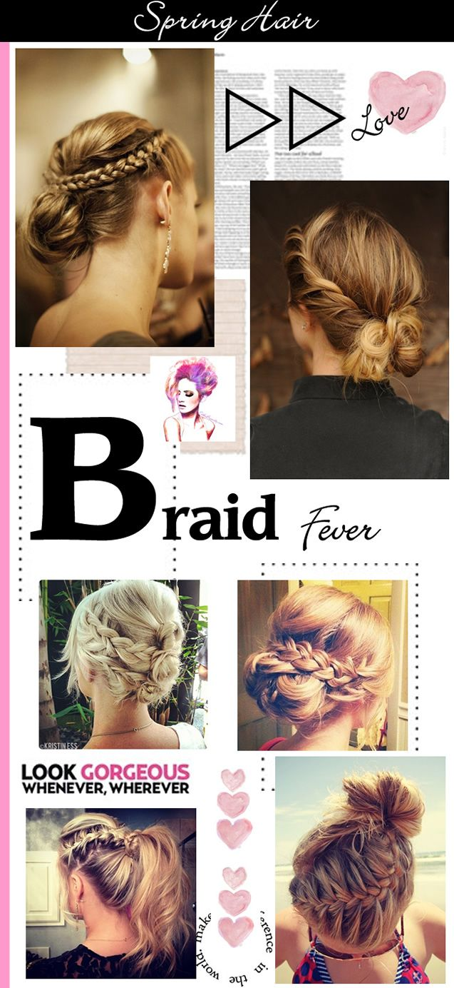 Braided hair styles for spring