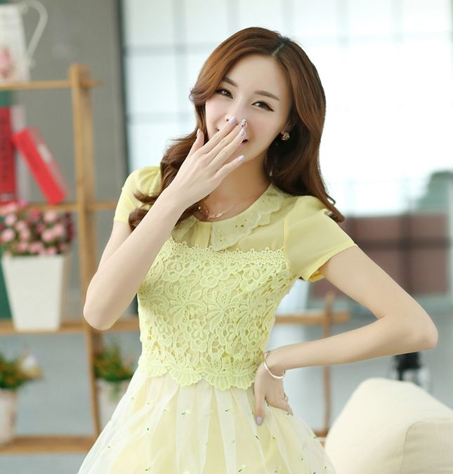 Cute Spring flower Shibuya 109 style Size S M L XL  Please choose size when ordering