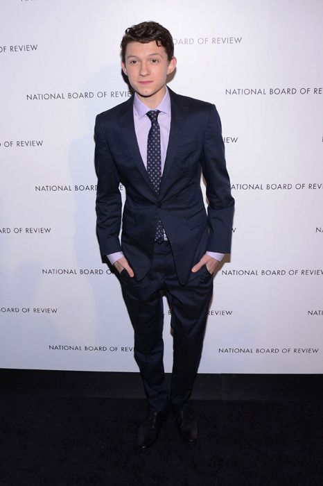 Tom Holland at the National Board of Review Awards in New York. Good Lord he made me cry in The Impossible. And he's my age. Convenient.