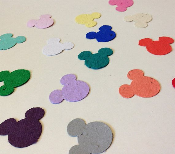 Plantable seed paper mickey mouse 25 plantable by VintageBlooming