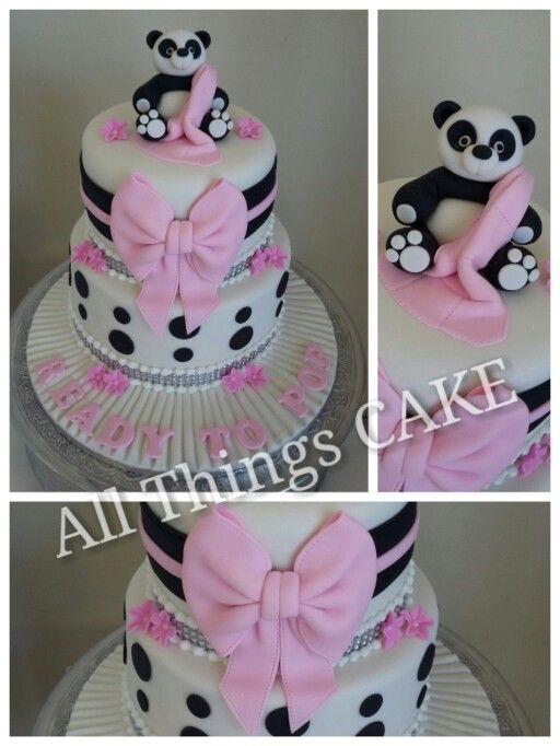 Panda baby shower cake by me ☺