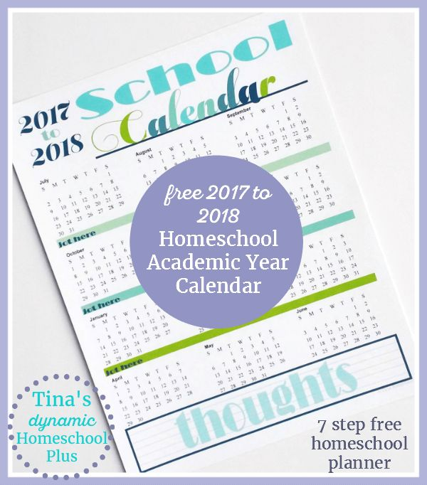 Free Homeschool Academic Year Calendar {2017 to 2018}.  ||  Free Homeschool Academic Year Calendar {2017 to 2018}. Grab this beautiful academic year calendar and begin planning your homeschool year. http://www.tinasdynamichomeschoolplus.com/2017/03/19/homeschool-academic-calendar-2017-to-2018/?utm_campaign=crowdfire&utm_content=crowdfire&utm_medium=social&utm_source=pinterest