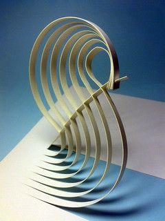 papír.plastika 3 vlna Paper Art / Origami Art / Paper Sculptures : More At FOSTERGINGER @ Pinterest