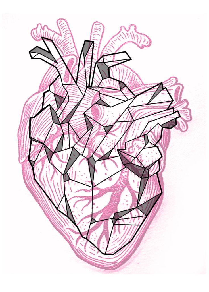 geometric heart tattoo - Buscar con Google