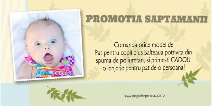 Promotia Saptamanii: Comanda un pat copii + saltea confort si iti oferim un CADOU!