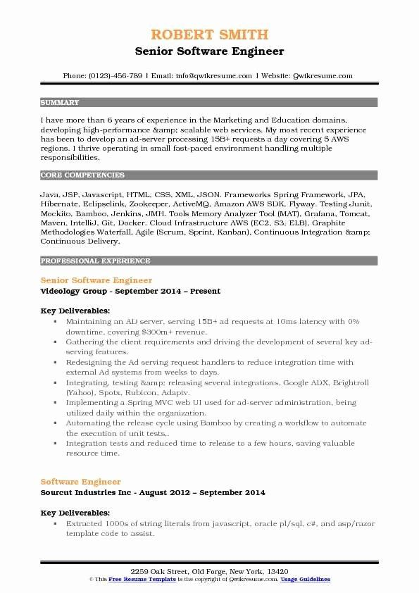 Build And Release Engineer Resume Awesome Software Engineer Resume Samples Education Domain Good Resume Examples Resume