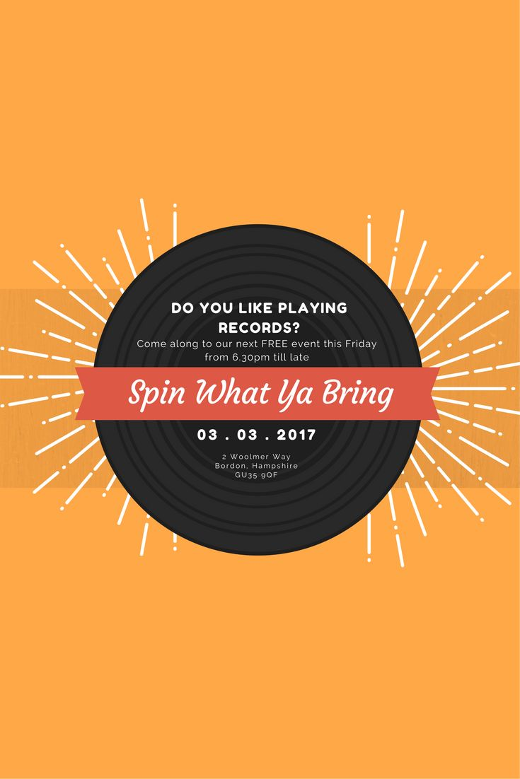 Spin What Ya Bring record spinning event
