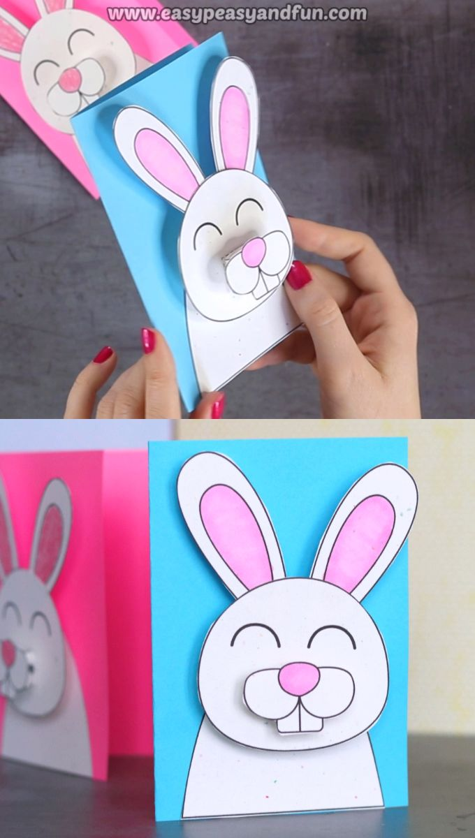 Easter Bunny Card Idea for Kids