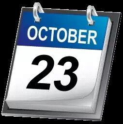 If 23rd October i