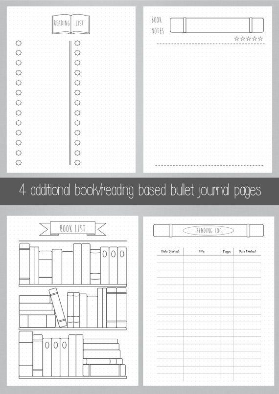 graphic regarding Bullet Journal Books to Read Printable referred to as Bullet Magazine - Bookshelf - Publications - Reading through - Printable