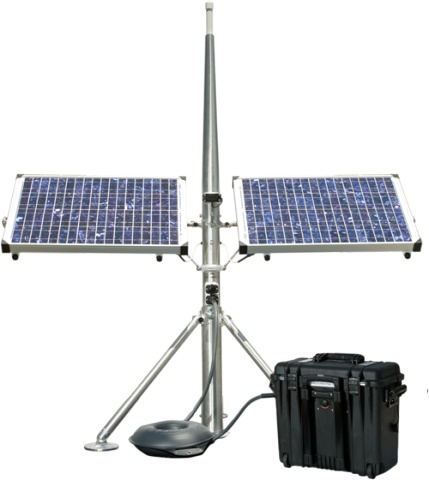 WANT!!!!The package is designed to provide power generation for light to medium-duty applications where a small portable fuel-driven generator would typically be used, and MAXIMUM power management is required in a completely self-contained package.