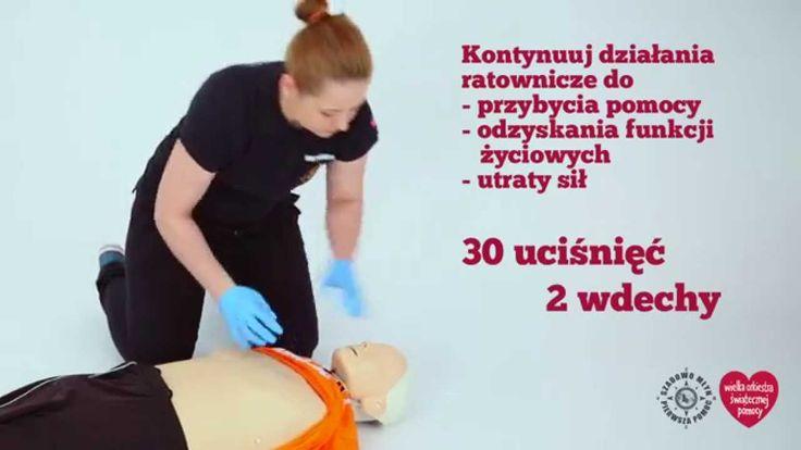 Jak udzielić pierwszej pomocy? Więcej informacji znajdziesz na http://www.wosp.org.pl/uczymy_ratowac/pierwsza_pomoc_materialy