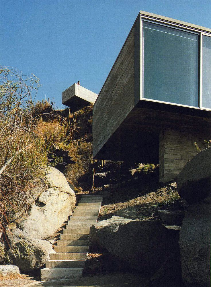 Smiljan Radic - The amazing Casa Pite house and guest house, with roof sculptures by Marcela Correa,Papudo 2006