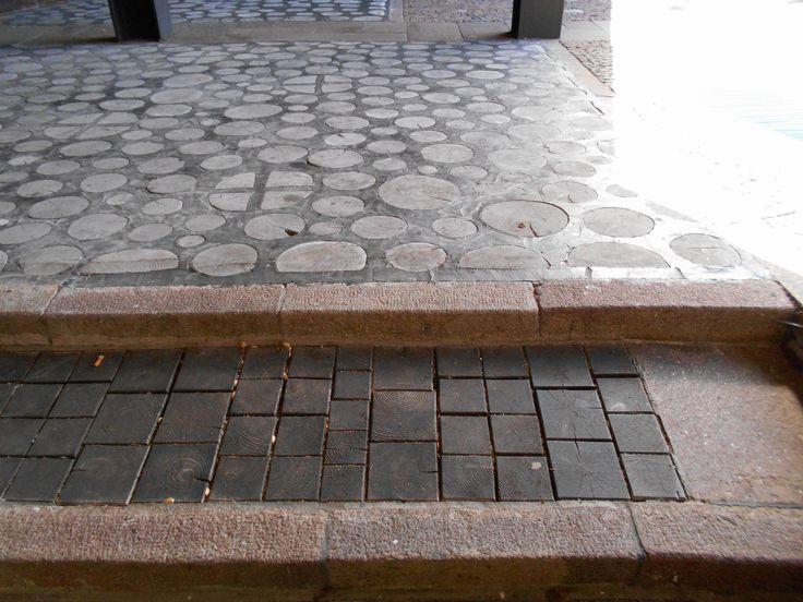 pavimento, legno-cemento-pietra, chiesa, Nostra Signora del Cadore,  Edoardo Gellner, Carlo Scarpa, villaggio Agip, Borca di Cadore