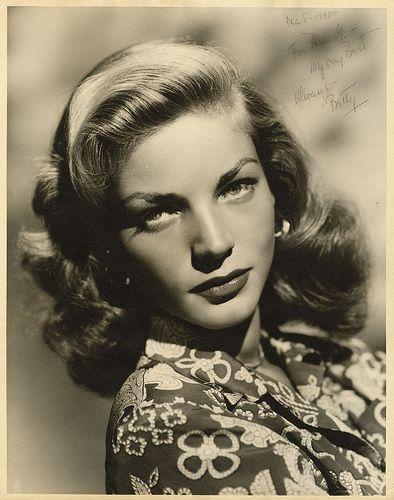 Portrait of Lauren Bacall.