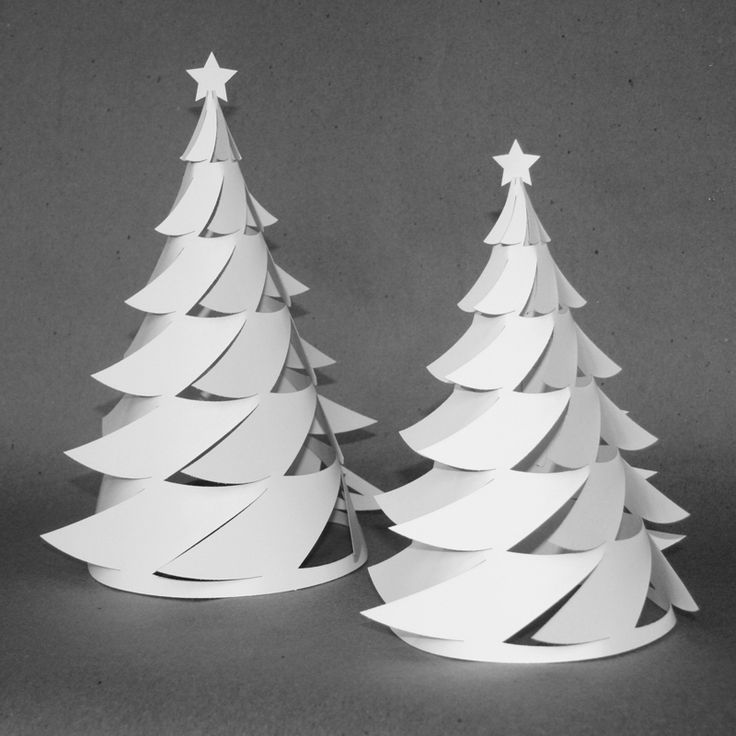 3d Christmas Tree Pattern: 3D Paper Christmas Tree/Luminaria — Crafthubs