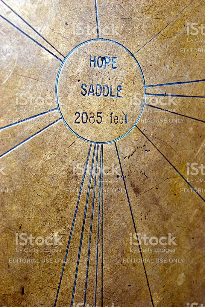 Hope Saddle Brass Trig royalty-free stock photo