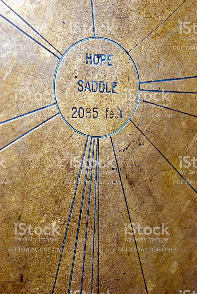 Hope Saddle Brass Trig royalty-free stock photo