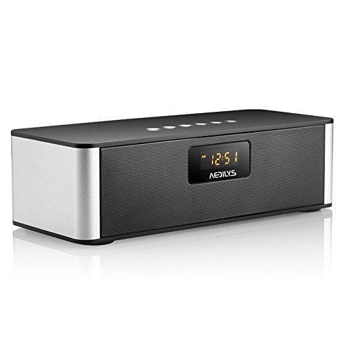 Bluetooth SpeakersAEDILYS HIFI DTSHD Technolog Portable Wireless Bluetooth Speaker Stereo Black ** AMAZON Great Sale