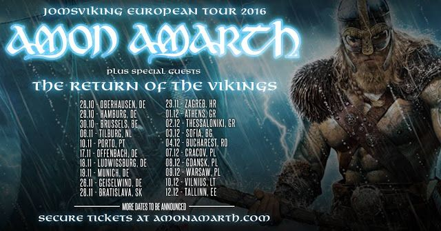 Amon Amarth, Testament, Grand Magus, 10/11/16. Coliseu, Porto - World Of Metal