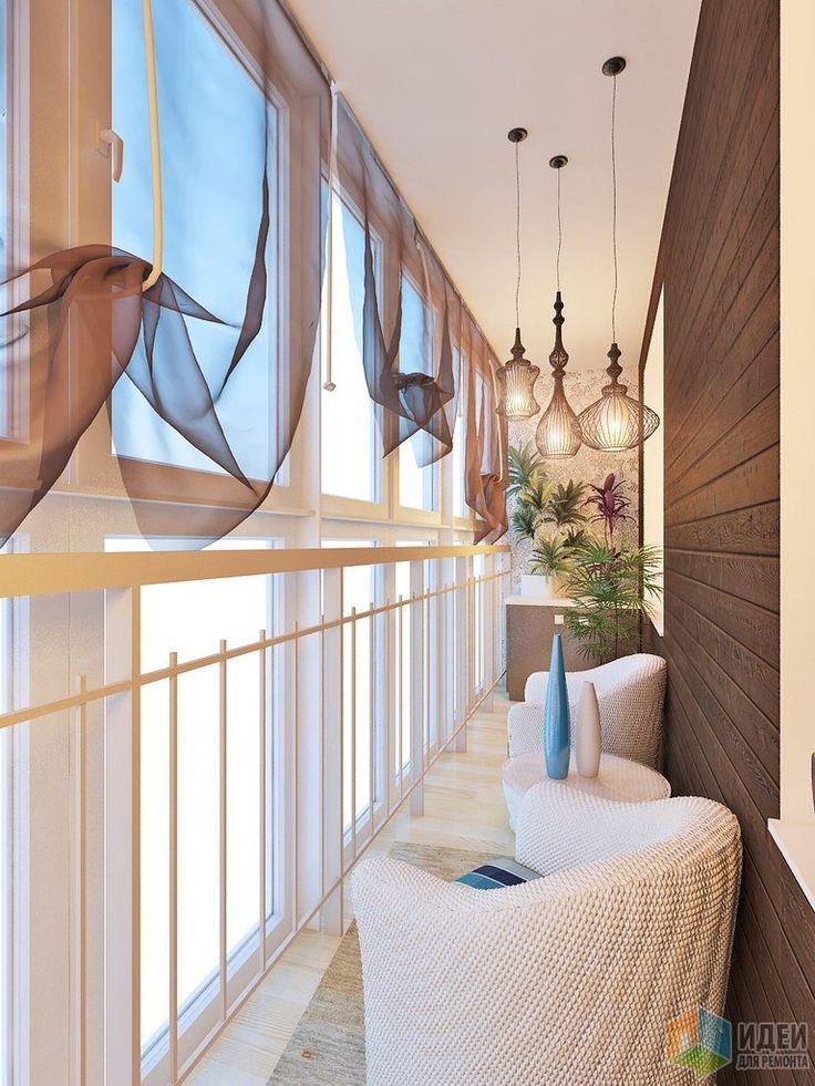 Дизайн балкона, балкон для отдыха