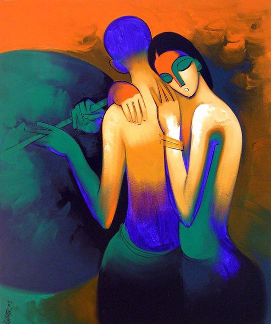 http://ego-alterego.com/2012/11/arvind-kolapkar-paintings/