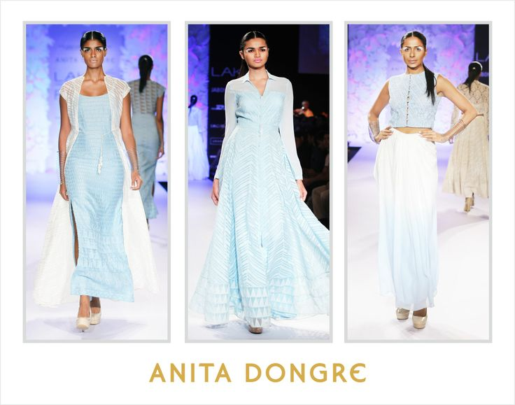 Spring into summer with powder blue. Style tip – Mix with hints of white as shown below to take the look to the next level.   To buy online - http://shop.anitadongre.com/runway-special/lfw-2014.html