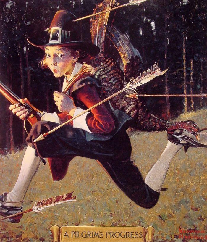 A Pilgrim's Progress by Norman Rockwell #art