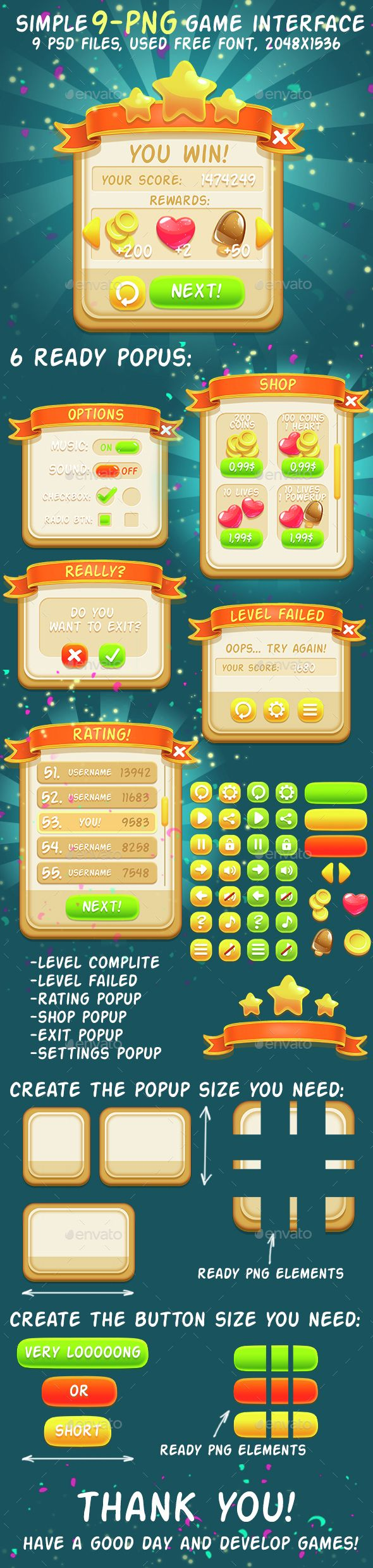 Simple 9-png Game Interface Asset | Download http://graphicriver.net/item/simple-9png-game-interface-asset/14920019?ref=sinzo