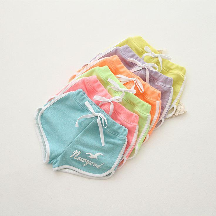 Самка Корейский внешней торговли детская одежда удобный хлопок конфеты цветные шорты шорты многоцветный детский отдых пляжные брюки - Taobao ...