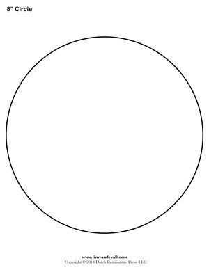 8 inch circle template diy pinterest template for Circle templates to print
