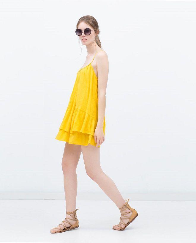vestido amarillo zara #vestido #look #verano #lookverano #zara #lookverano #vestidosverano #vestidos #vestidosplayeros