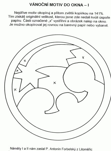 Uitsparing in het venster 1 - Comet en Gezin met het Kind Jezus (foto) / knutselen en bastlení voor Kerstmis / Christmas | Pastorace.cz