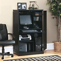new sauder computer armoire laptop pc desk multiple finishes storage space