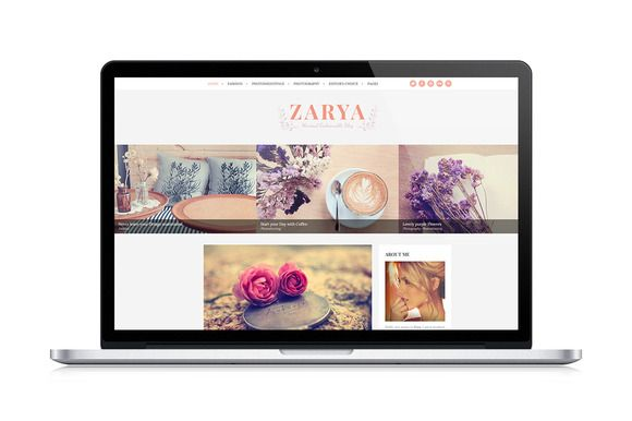 Zarya, Personal Wordpress Blog Theme by PremiumCoding on Creative Market