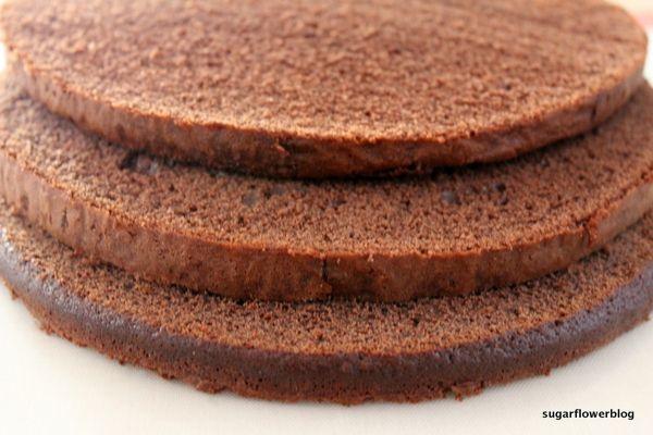 Chocolate sponge cake recipe for fondant cake