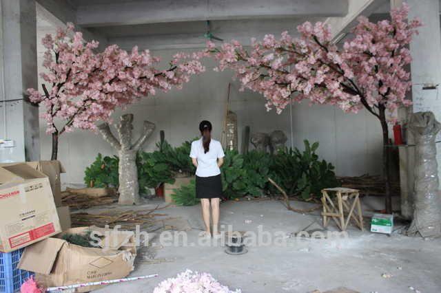 Source New Design Garden Wedding Arch Use Cherry Blossom Flower Branches Wooden Ar Blossom Tree Wedding Wedding Tree Decorations Artificial Cherry Blossom Tree