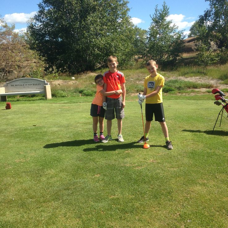 Golfing with the crew - junior golf