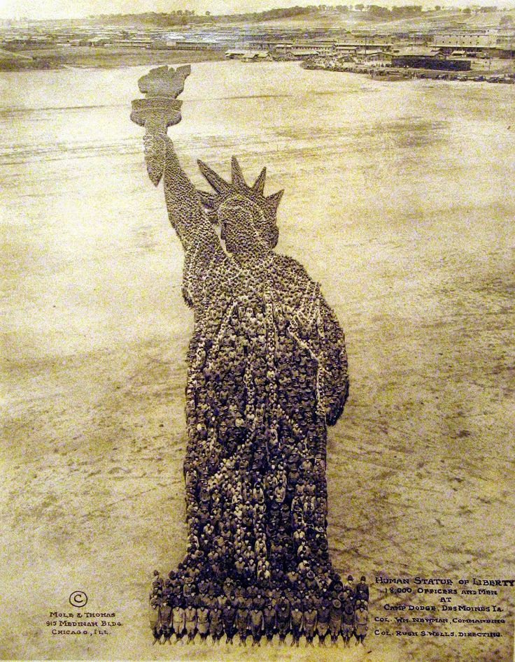 Incredible Pictures Formed by Thousands of US Soldiers During World War I