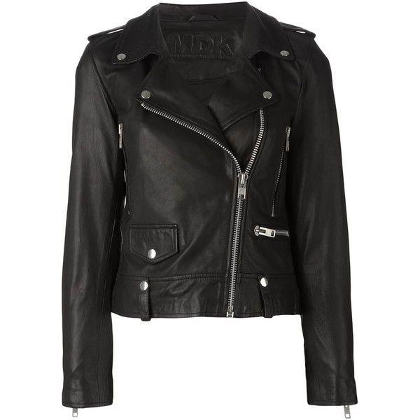 Munderingskompagniet Seattle Biker Jacket (€340) ❤ liked on Polyvore featuring outerwear, jackets, black, leather moto jacket, 100 leather jacket, leather jacket, black moto jacket and black motorcycle jacket