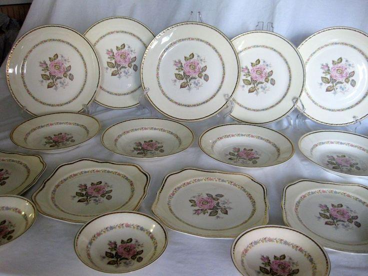Vintage Homer Laughlin Georgian Eggshell English Regency 18 piece lot USA #HomerLaughlin