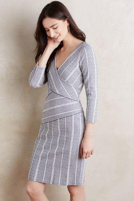 Maeve Wrapped Stripe Column Dress