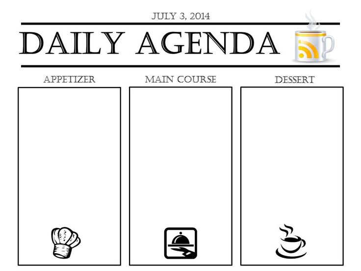 Daily Agenda Slide Template to display in class Teacher - format for an agenda
