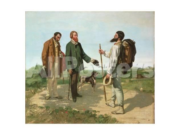 Analyse de Bonjour Monsieur Courbet en 1954 de Gustave Courbet
