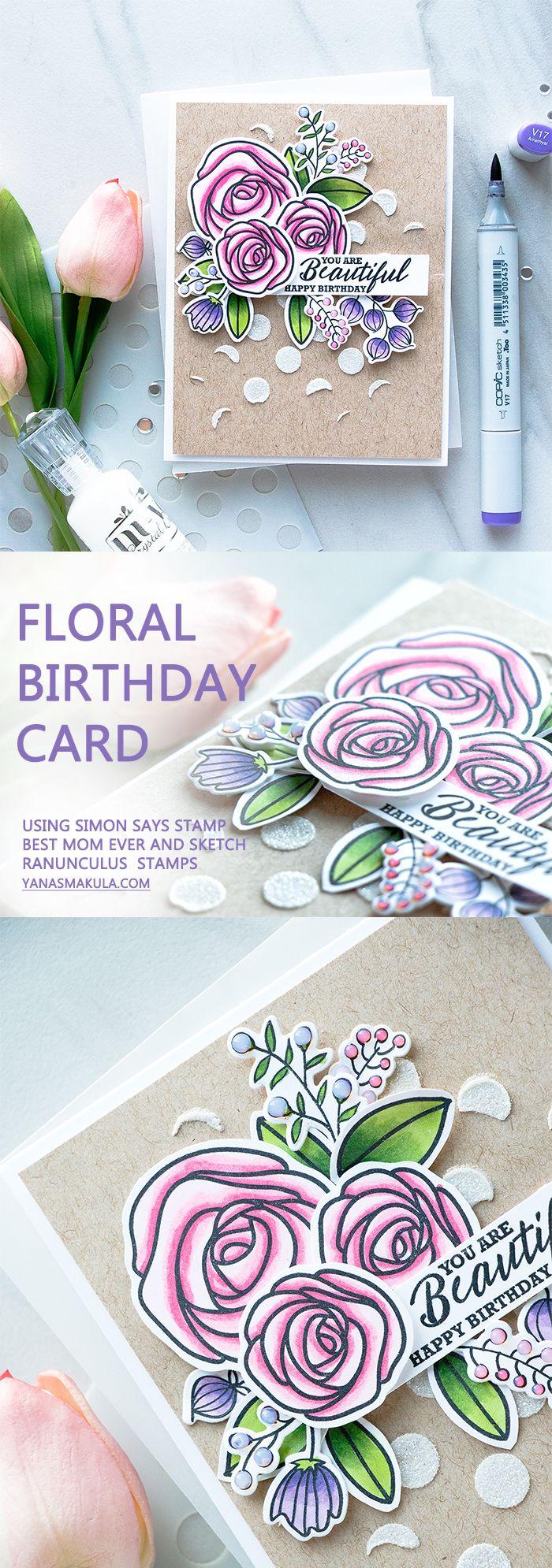 best cards floral images on pinterest