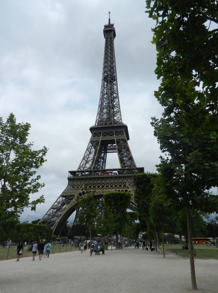The Eiffel Tower in summer. Icon of Paris