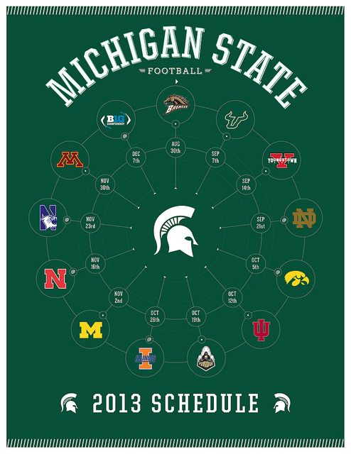Big Ten Championship game.  Michigan State vs Ohio State, December 7, 2013 in Indianapolis, IN. Lost 24-34.  Can't win big games wothout a good defense.  This year's weakness was our defense, especially pass coverage and shoddy tackling.